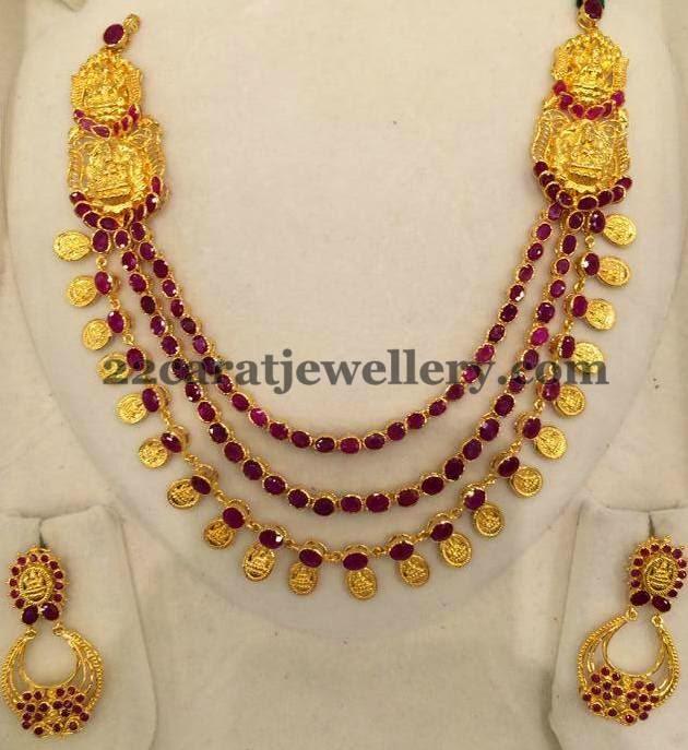lakshmi mala in rubies jewellery designs