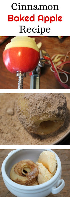 Learn how to make your own baked apples with this easy and delicious cinnamon and sugar recipe! Serve with ice cream.