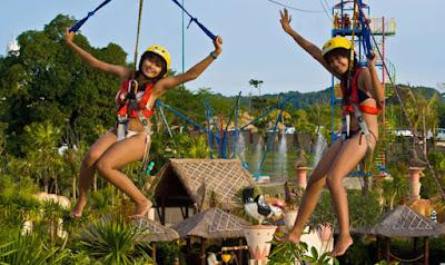 Flying-Fox-New-kuta-Green-Park-Bali-Trip-Wisata-Bali