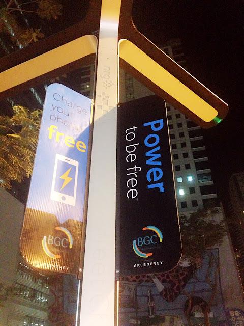 Free Charging Station in Bonifacio Global City