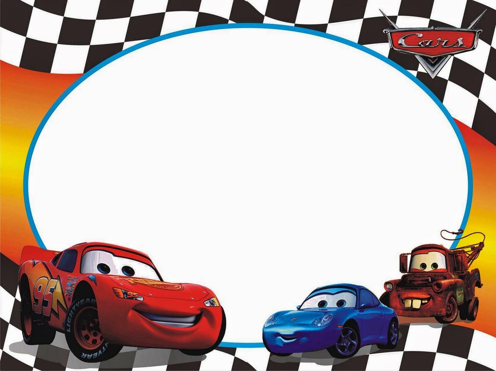 Cars: Free Printable Photo Frames.