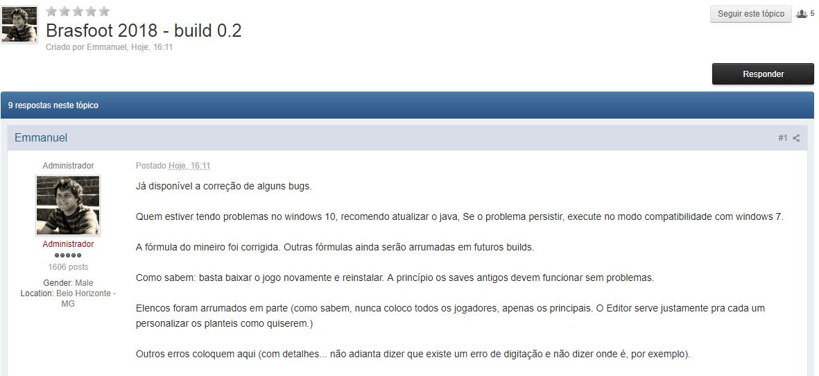 brasfoot 2005 site oficial