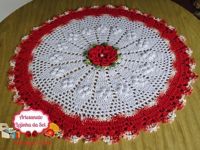 Artesanato Lojinha Da Sol Centro De Mesa Pipoca 075 Cm Com Flor