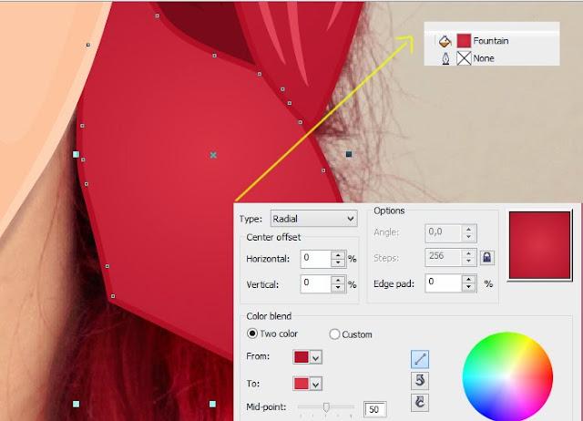 tutorial vector, cara buat vector, vector cdr