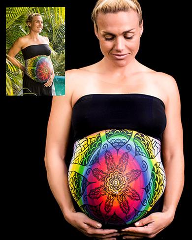 Pregnant Belly Artworks seni melukis perut wanita hamil yang keren-9