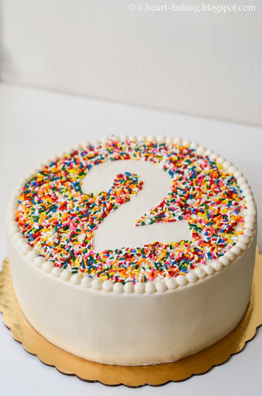I Heart Baking!: Rainbow Sprinkle Birthday Cake With