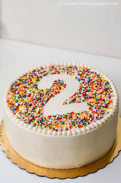 Round Birthday Cake Tree Whipped Cream