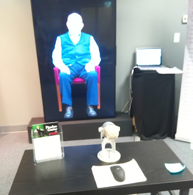 Talk with a Holocaust survivor hologram.