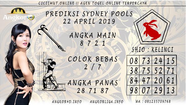 Prediksi Angka Jitu SYDNEY POOLS 22 APRIL 2019