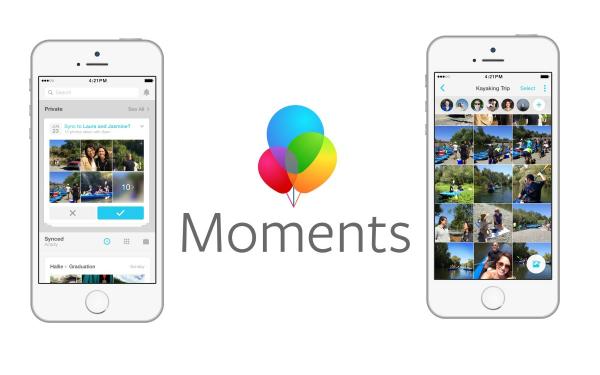 فيسبوك تريد إجبار المستخدمين على استعمال تطبيق Moments
