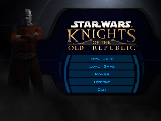 Star Wars Knights of the Old Republic title screen