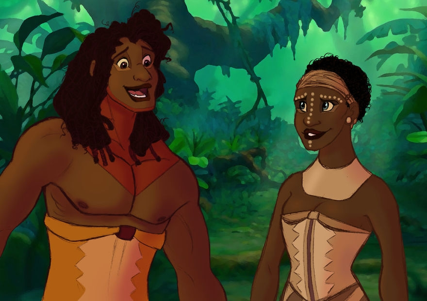 04-The-Lion-King-Alaina-Bastian-s0alaina-Drawings-of-Disney-Animals-with-a-Second-Life-as-Humans