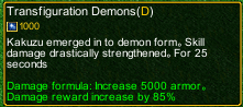 naruto castle defense 6.0 naruto Transfiguration Demons detail