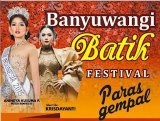 Banyuwangi Batik Festival 2015 bertema Paras Gempal.