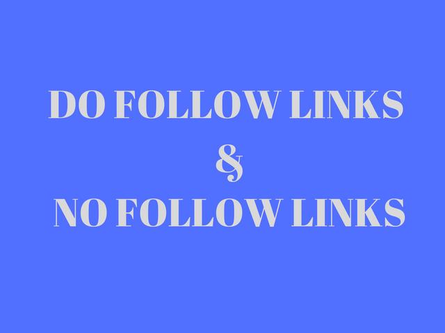 do follow and no follow links