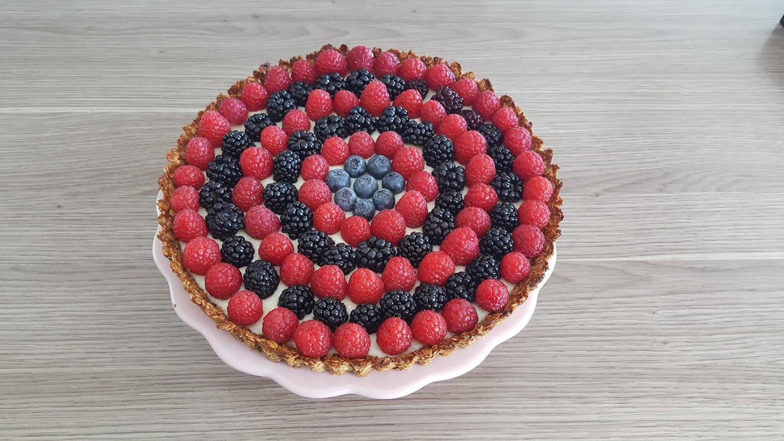 beerenkuchen mit pudding