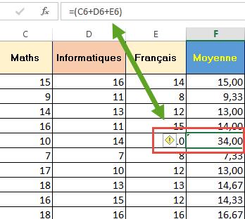 Erreur silencieuse Excel