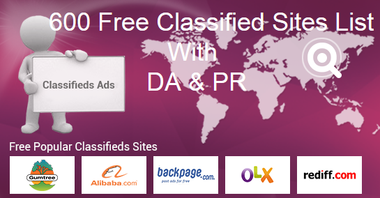 600+ Top Free Classified Ad Posting Sites List With Details