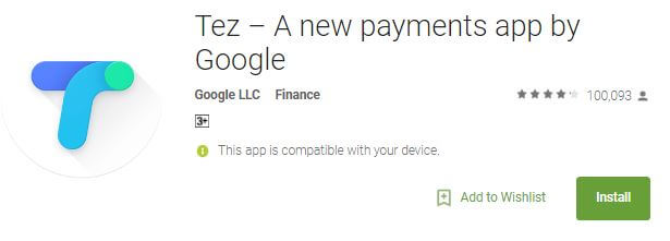 Tez - A new Payment app by Google