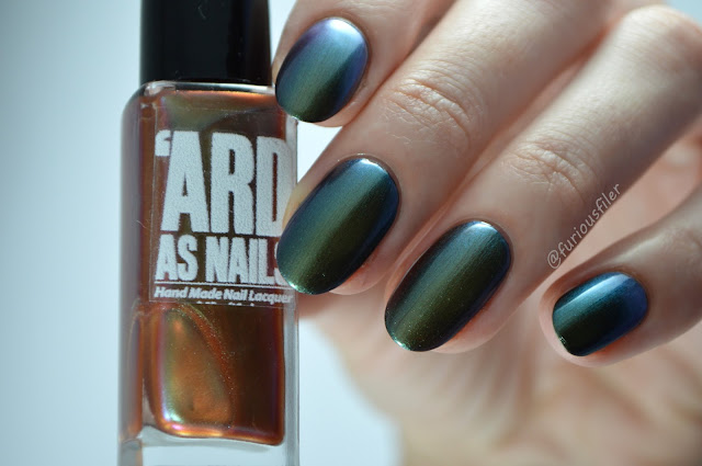 'ard as nails emma colour shift green oil slick