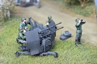 German 20 mm Flakvieling 38  Tamiya au 1/48.