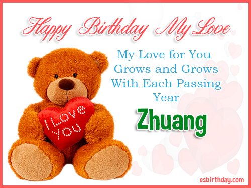 Zhuang Happy Birthday My Love