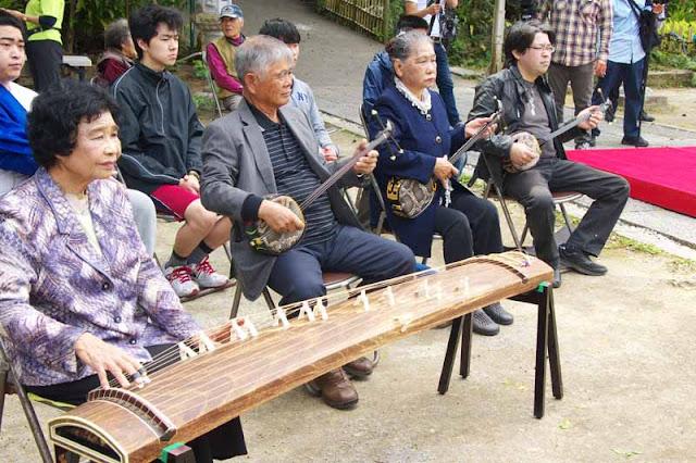 musicians, koto, Japanese harp, sanshin