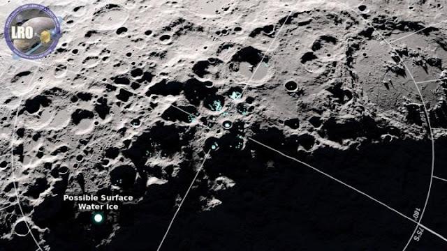 Água surge ao redor de toda a superfície lunar