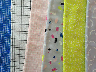 Snap to Grid by Kimberly Kight Cotton and Steel fabric