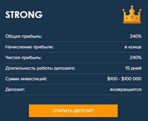 Инвестиционные планы Crypto-Club 4