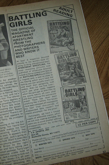 Ads For The Sister Publications Called Battling S Featuring Apartment Wrestling Are Here As Pellet Guns