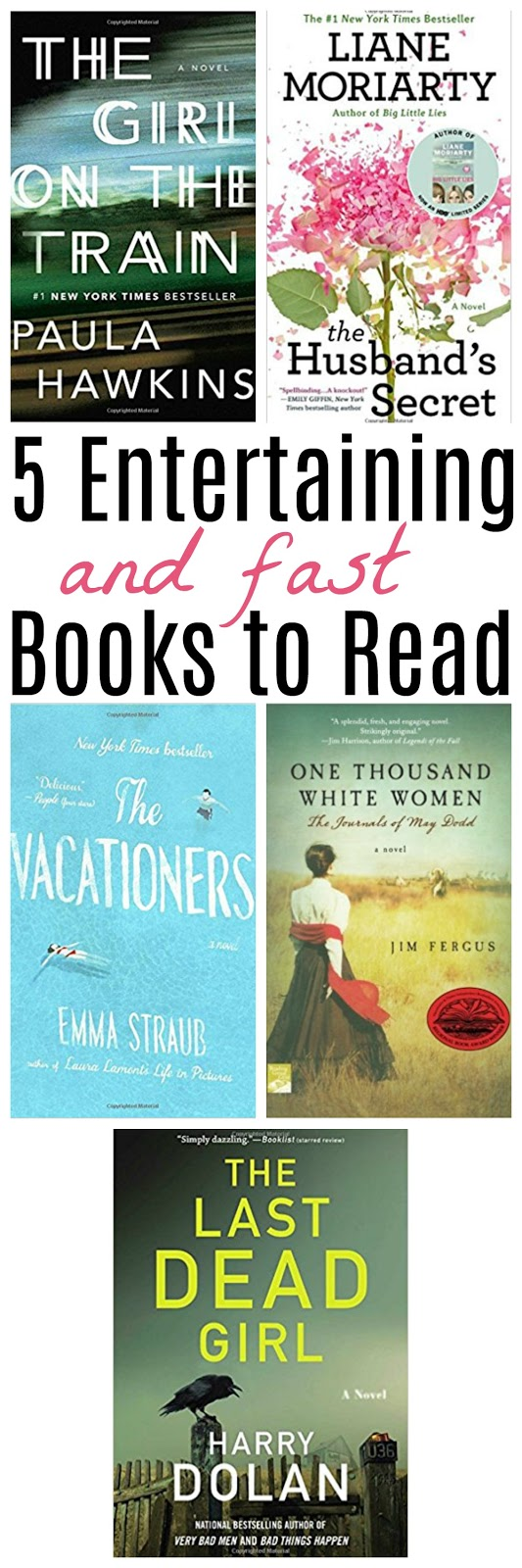 quick reads, entertaining books, easy books to read, adult fiction