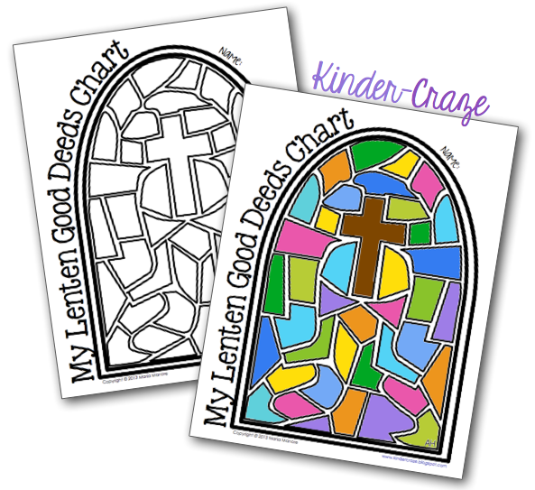 FREE lenten good deeds chart. Students color a space each time they do a good deed.