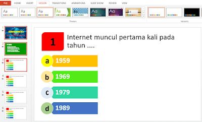 Cara Merancang Ulangan Semi online dengan menggunakan PowerPoint