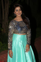 Nikki Galrani in Green Skirt  Top at Marakathamani music launch ~  Exclusive (47).JPG