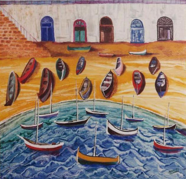 Obra de arte en venta Manuel Carmona: pintura calella palafrugell