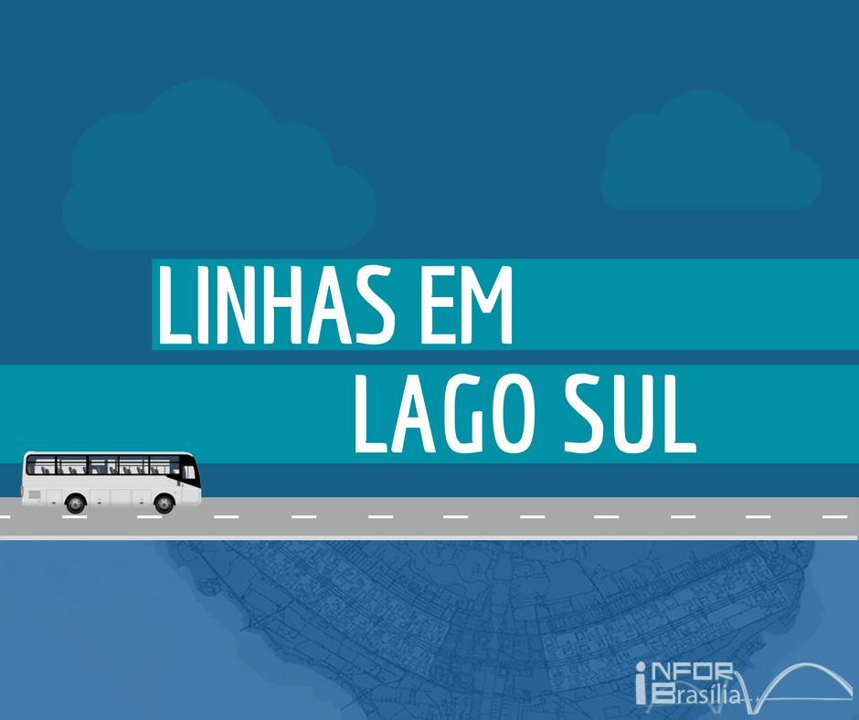 Horário de ônibus das linhas do Lago Sul
