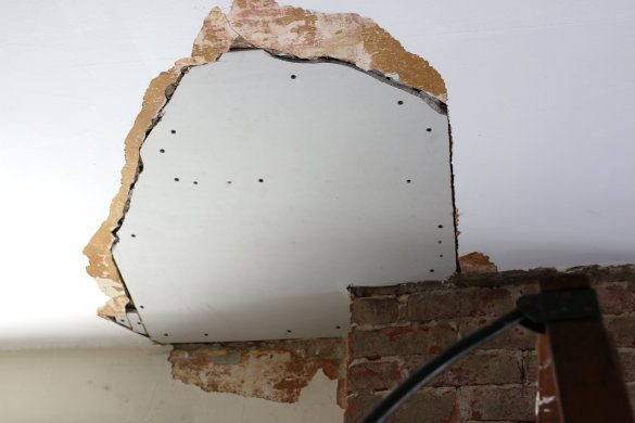 How To Repair A Plaster Ceiling Hole Www Energywarden Net
