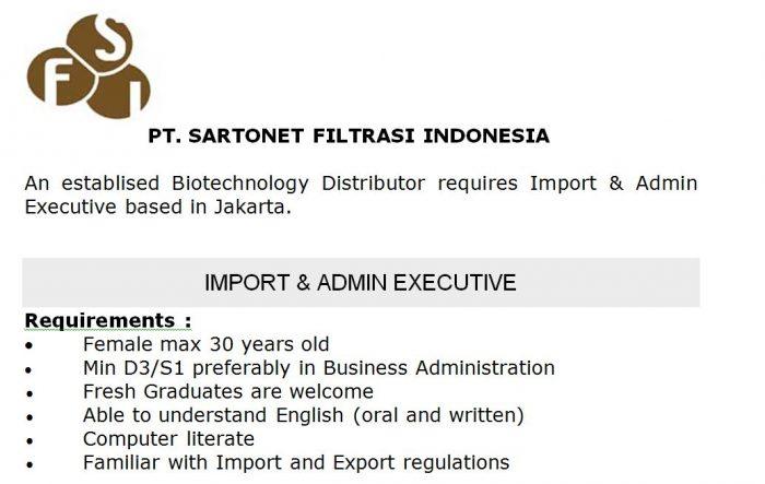 Lowongan Kerja D3/S1 Fresh Graduate Business Administration