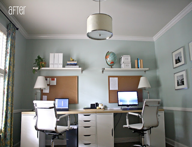 buy cheap home office furniture dual desk online