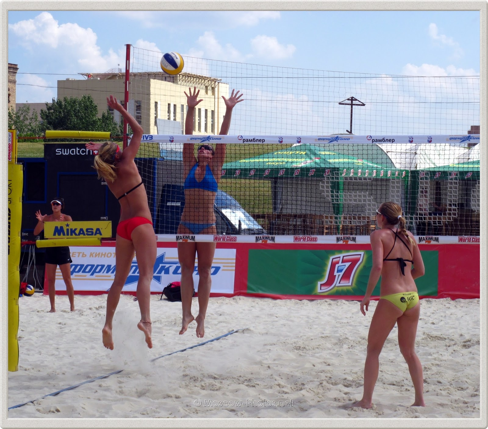 Attack Combination of Czech Beach Volleyball Team