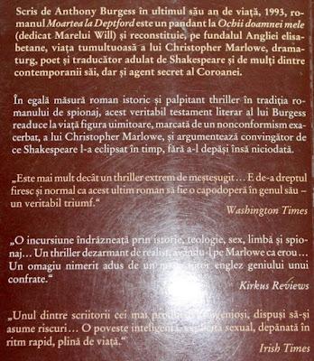 Moartea la Deptford de Anthony Burgess. Recenzie