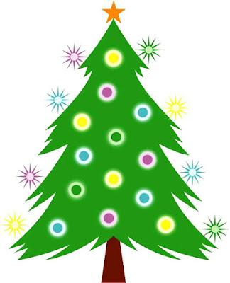 Dibujo de un Arbol de Navidad para niños a colores