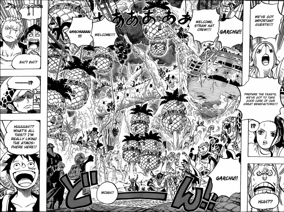One Piece Ch 806: At the Fort on the Right Belly