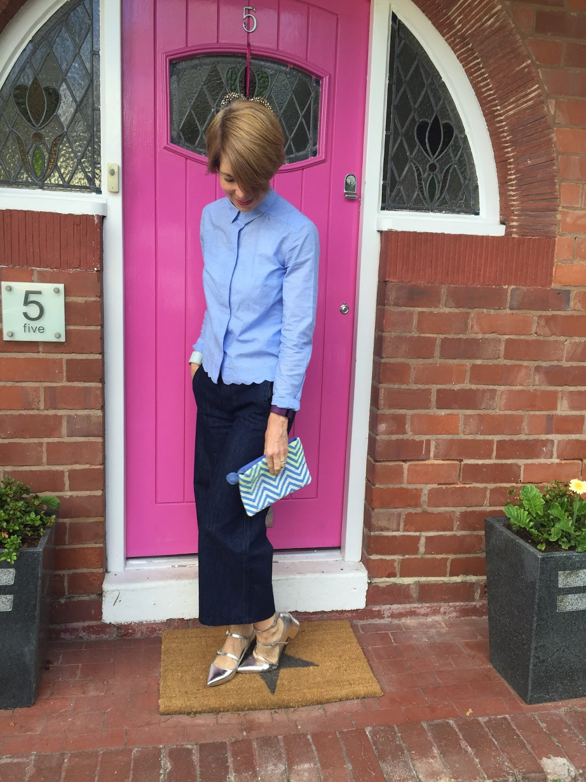 Chopping wide legged jeans into culottes