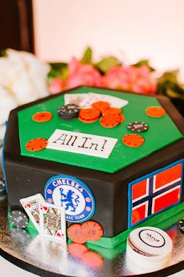 grooms poker cake