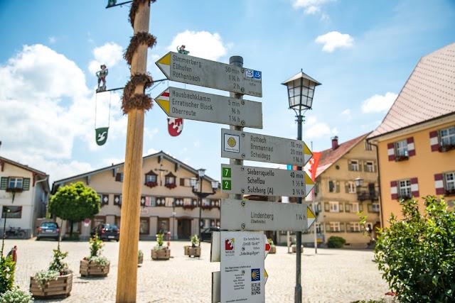 Wandertrilogie Allgäu  Etappe 38 Weiler-Scheidegg-Lindenberg  Wasserläufer Route 03