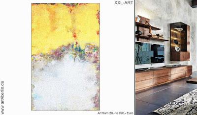 Hoteleinrichtung mit moderner Kunst, XXL Bildern