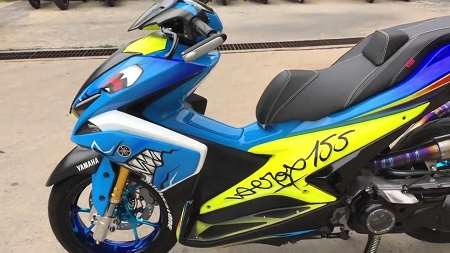 Modifikasi Yamaha Aerox ban besar