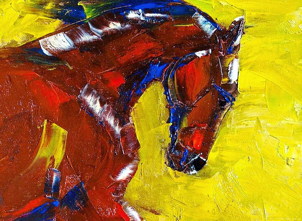 cuadro-de-caballo-pintado-espatula-al-oleo